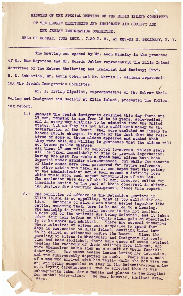 RG 245.4.1 - Box 1 - Folder 2 - Ellis Island Meeting -  June 28 1909 - 1.jpg