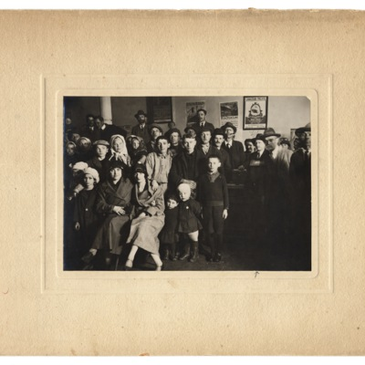 Group of Emigrants at the HIAS Office