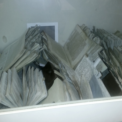 YIVO books being conserved at LNB 9 22 15 5.jpg