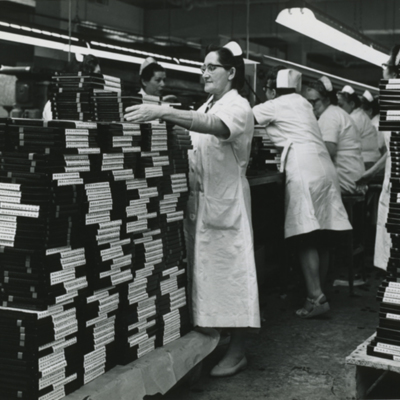 New Immigrants Working in a Candy Factory