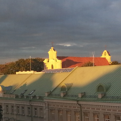 St George Church from the Novotel, Vilnius Sept 2015.jpg